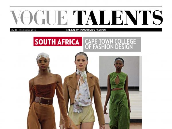 Ctcfd Featured In Vogue Italia Talent Issue 2017 Cape Town College Of Fashion Design